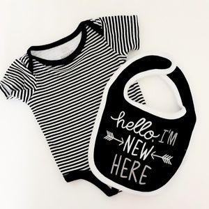 Matching Sets - 3 Piece Black & White Outfit